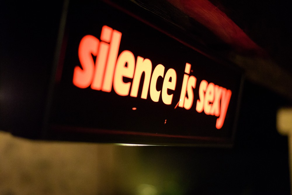 silence is sexy