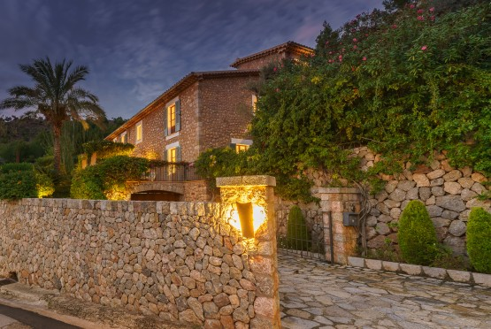 Stone built villa with views to Deia
